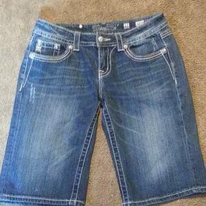 Miss Me Easy Bermuda Embellished Shorts Flaps 27
